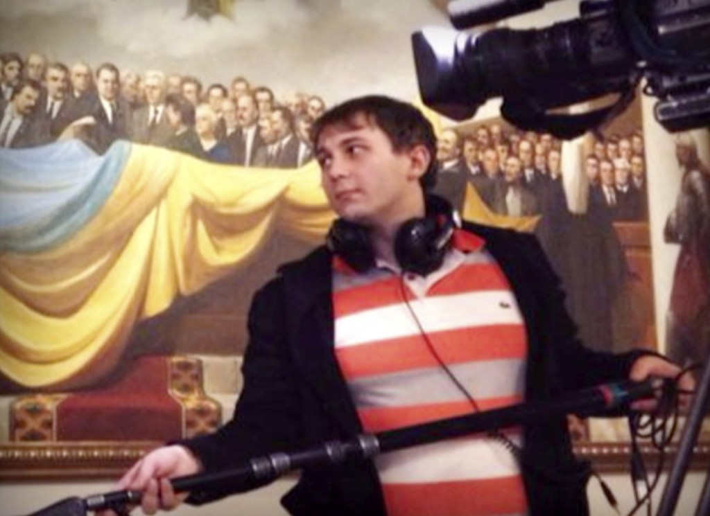 This undated handout photo made available by Russian State Television Rossiya shows the sound engineer Anton Voloshin who has been confirmed dead on Tuesday in eastern Ukraine. Photo credit: AP Photo/Rossiya Television
