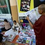 Five sentenced in Myanmar for 'alarming public'