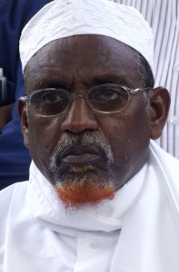 Forces loyal to Sheikh Hassan Dahir Aweys, pictured in 2009, threatened GBC Radio and Television, forcing Burhan Hassan to flee Somalia. (AP Photo/Mohamed Sheikh Nor)