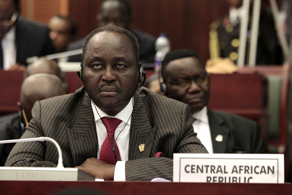 Central African Republic's then president Francois Bozizé, pictured at a 2011 conference in Equatorial Guinea (AP Photo/Rebecca Blackwell).