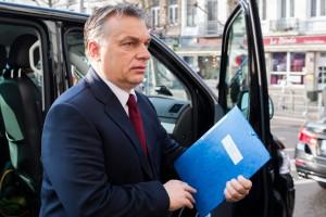 Hungarian Prime Minister Viktor Orban in Brussels on Feb. 12, 2015. (AP Photo/Geert Vanden Wijngaert)