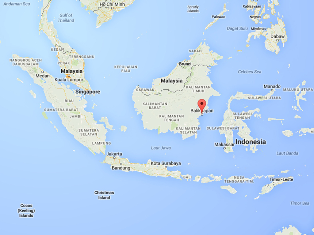 Balikpapan Indonesia  city photo : Balikpapan Indonesia Map