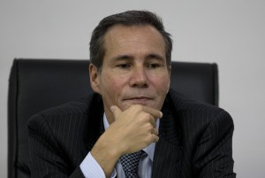 Argentine prosecutor Alberto Nisman is pictured speaking to journalists in 2014.  (AP Photo/Natacha Pisarenko)